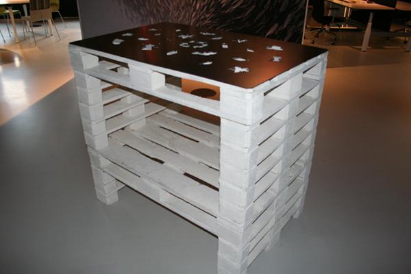 Designstudio lars kloen werk gispen pallet tafel for Pallet tafel zelf maken